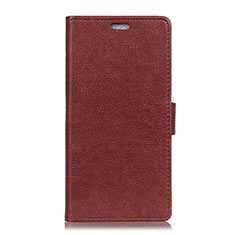 Leather Case Stands Flip Cover L08 Holder for Asus Zenfone Max ZB555KL Brown