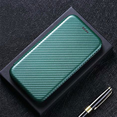 Leather Case Stands Flip Cover L08 Holder for Huawei Y7a Green