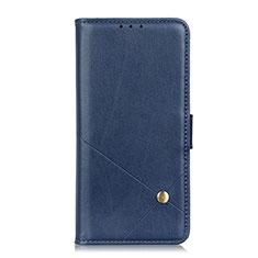 Leather Case Stands Flip Cover L08 Holder for LG K52 Blue