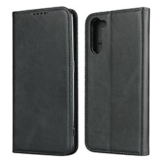 Leather Case Stands Flip Cover L08 Holder for Oppo Reno3 A Black
