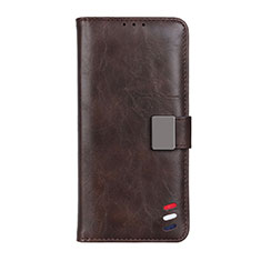 Leather Case Stands Flip Cover L08 Holder for Realme Narzo 20 Pro Brown