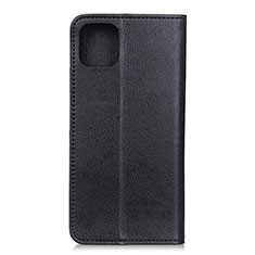 Leather Case Stands Flip Cover L08 Holder for Samsung Galaxy A71 5G Black