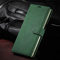 Leather Case Stands Flip Cover L08 Holder for Samsung Galaxy S21 Ultra 5G Midnight Green