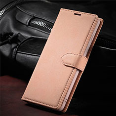 Leather Case Stands Flip Cover L08 Holder for Samsung Galaxy S21 Ultra 5G Rose Gold
