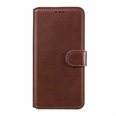 Leather Case Stands Flip Cover L08 Holder for Xiaomi Redmi Note 9 Pro Brown