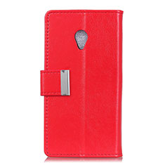 Leather Case Stands Flip Cover L09 Holder for Alcatel 1X (2019) Red