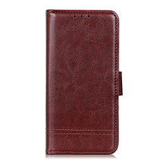 Leather Case Stands Flip Cover L09 Holder for Huawei Enjoy 10S Brown