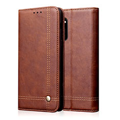 Leather Case Stands Flip Cover L09 Holder for Huawei Honor 30 Brown