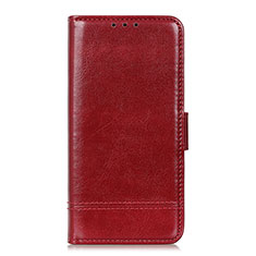 Leather Case Stands Flip Cover L09 Holder for Huawei Y8p Red