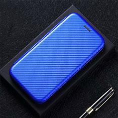 Leather Case Stands Flip Cover L09 Holder for LG Q52 Blue