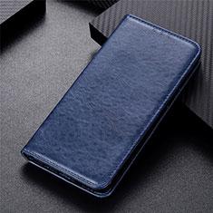 Leather Case Stands Flip Cover L09 Holder for Motorola Moto G 5G Blue