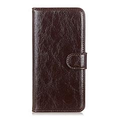 Leather Case Stands Flip Cover L09 Holder for Motorola Moto G Fast Brown