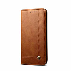 Leather Case Stands Flip Cover L09 Holder for OnePlus Nord Light Brown