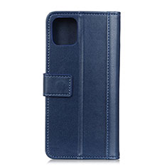 Leather Case Stands Flip Cover L09 Holder for Samsung Galaxy A71 5G Blue