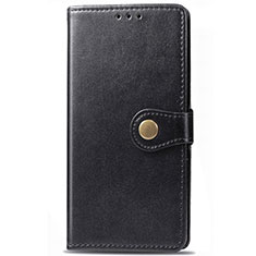 Leather Case Stands Flip Cover L09 Holder for Samsung Galaxy M21s Black