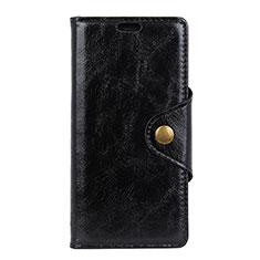 Leather Case Stands Flip Cover L10 Holder for Alcatel 1X (2019) Black