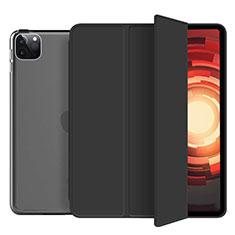 Leather Case Stands Flip Cover L10 Holder for Apple iPad Pro 12.9 (2020) Black