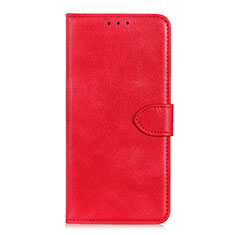 Leather Case Stands Flip Cover L10 Holder for Huawei Y5p Red