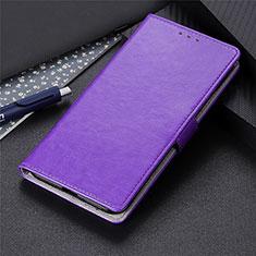 Leather Case Stands Flip Cover L10 Holder for LG K41S Purple