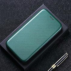 Leather Case Stands Flip Cover L10 Holder for LG K42 Green