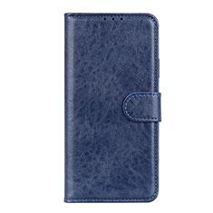 Leather Case Stands Flip Cover L10 Holder for Motorola Moto Edge Blue