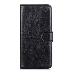 Leather Case Stands Flip Cover L10 Holder for Motorola Moto One Fusion Plus Black