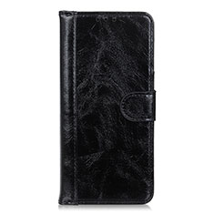 Leather Case Stands Flip Cover L10 Holder for Realme X7 Pro 5G Black