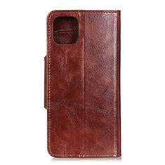 Leather Case Stands Flip Cover L10 Holder for Samsung Galaxy A71 5G Brown