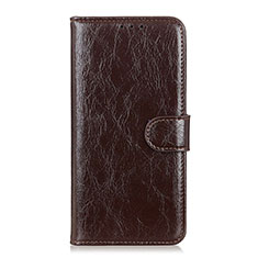 Leather Case Stands Flip Cover L10 Holder for Xiaomi Mi 10 Lite Brown