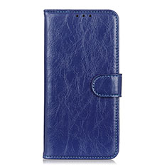 Leather Case Stands Flip Cover L11 Holder for Huawei Y8p Blue