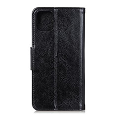 Leather Case Stands Flip Cover L11 Holder for Samsung Galaxy A71 5G Black