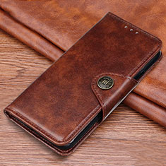 Leather Case Stands Flip Cover L11 Holder for Samsung Galaxy M21s Brown