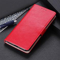Leather Case Stands Flip Cover L12 Holder for Motorola Moto Edge Red