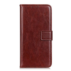 Leather Case Stands Flip Cover L12 Holder for OnePlus Nord Brown