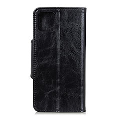 Leather Case Stands Flip Cover L12 Holder for Samsung Galaxy A71 5G Black