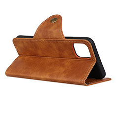 Leather Case Stands Flip Cover L14 Holder for Samsung Galaxy A71 5G Brown