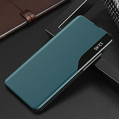 Leather Case Stands Flip Cover L15 Holder for Xiaomi Redmi K30S 5G Cyan