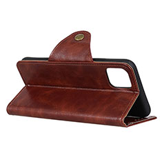 Leather Case Stands Flip Cover L16 Holder for Huawei Honor 30S Brown