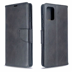 Leather Case Stands Flip Cover L16 Holder for Samsung Galaxy A71 5G Black