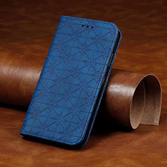 Leather Case Stands Flip Cover L17 Holder for Huawei Y7p Blue