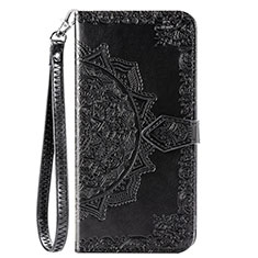 Leather Case Stands Flip Cover L18 Holder for Huawei Y7p Black