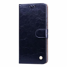 Leather Case Stands Flip Cover L23 Holder for Samsung Galaxy A71 5G Blue