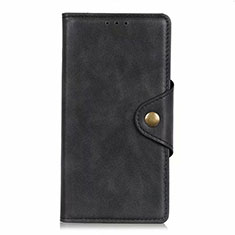 Leather Case Stands Flip Cover L26 Holder for Samsung Galaxy A71 5G Black