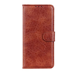 Leather Case Stands Flip Cover N05 Holder for Huawei P40 Brown