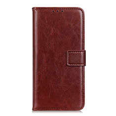Leather Case Stands Flip Cover N05 Holder for Huawei P40 Pro+ Plus Brown