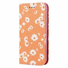 Leather Case Stands Flip Cover N05 Holder for Samsung Galaxy Note 20 Ultra 5G Orange