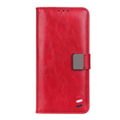 Leather Case Stands Flip Cover N07 Holder for Huawei P40 Pro+ Plus Red