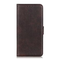 Leather Case Stands Flip Cover N08 Holder for Huawei P40 Pro+ Plus Brown