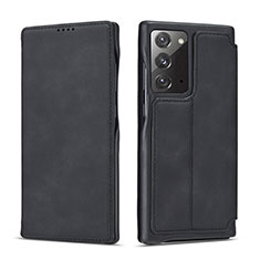 Leather Case Stands Flip Cover N09 Holder for Samsung Galaxy Note 20 5G Black