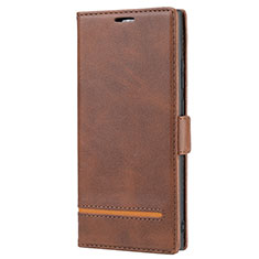Leather Case Stands Flip Cover N11 Holder for Samsung Galaxy Note 20 Ultra 5G Brown
